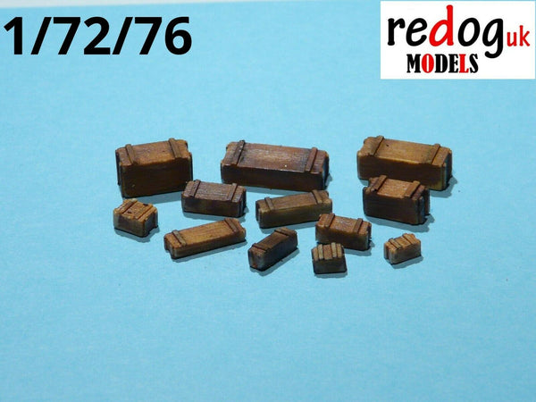 Redog 1:72 Wooden Military Crates -11 Items Scale Modelling Stowage Kit B4 - redoguk