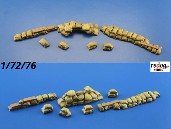 Redog 1/72 Military Sandbags Trenches / Resin Diorama Kit Model Building