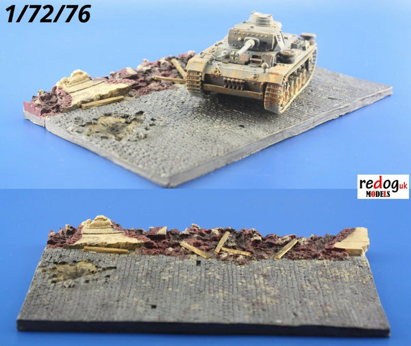 Redog 1/72 Display Base Small Diorama For Military Scale Model Vehicles /d12