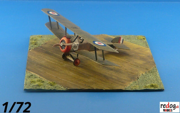 Redog 1/72 - WWI Diorama Display Grass field Base For Airplane Scale Models Kits  /d20