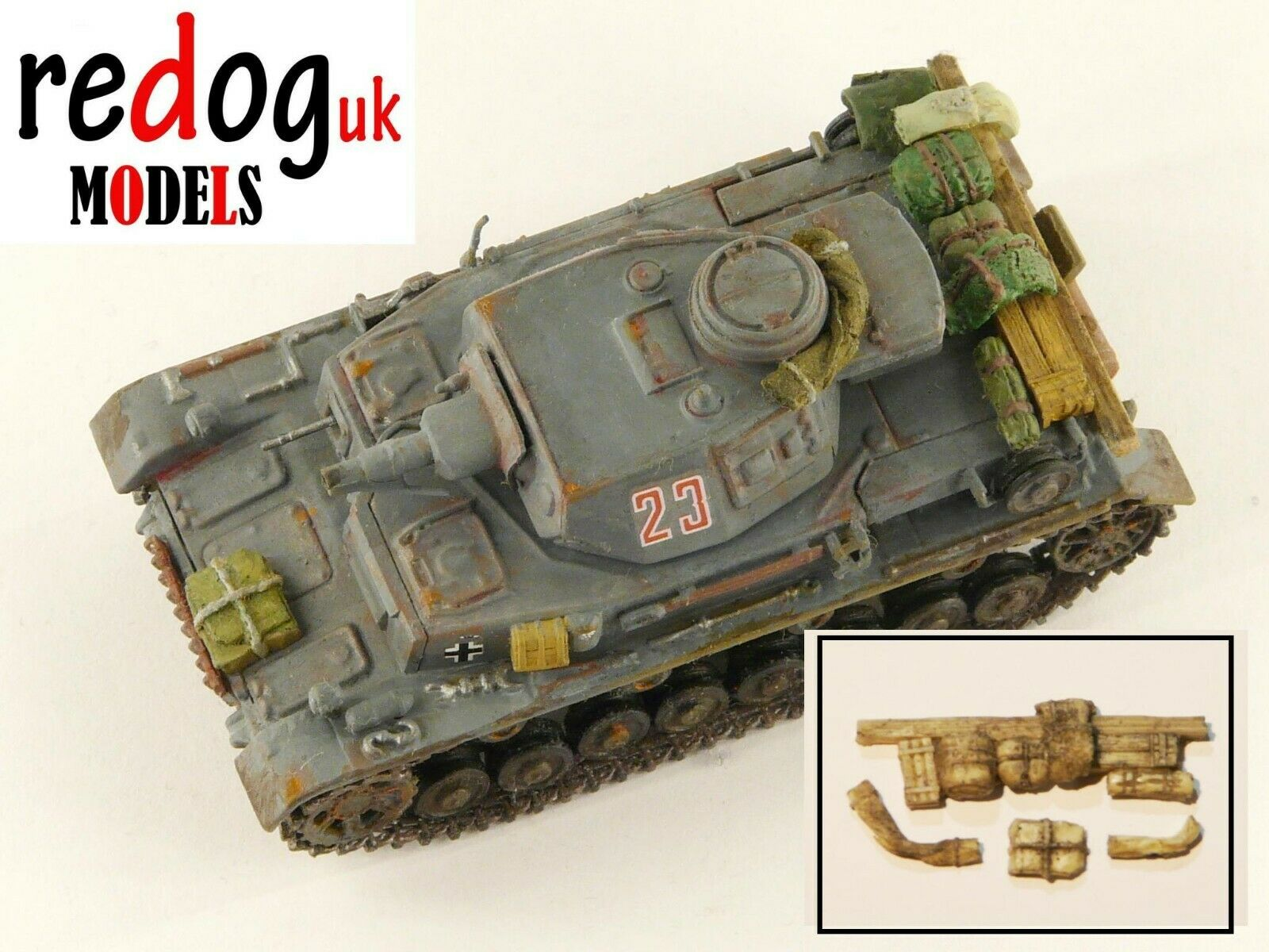 1/72 Panzer German Pz.Kpfw. IV Ausf. D Tank Military Scale Model Stowage Kit - redoguk