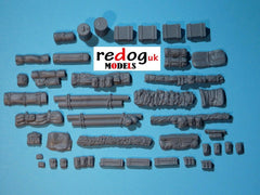 28mm 1/56th Vehicle Stowage WW2 Bolt action/Tank War Games Kit  - 40 pieces - redoguk