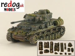 1:72 -  Panzer IV Ausf F2 Tank Military Scale Model Stowage Kit Accessories - redoguk