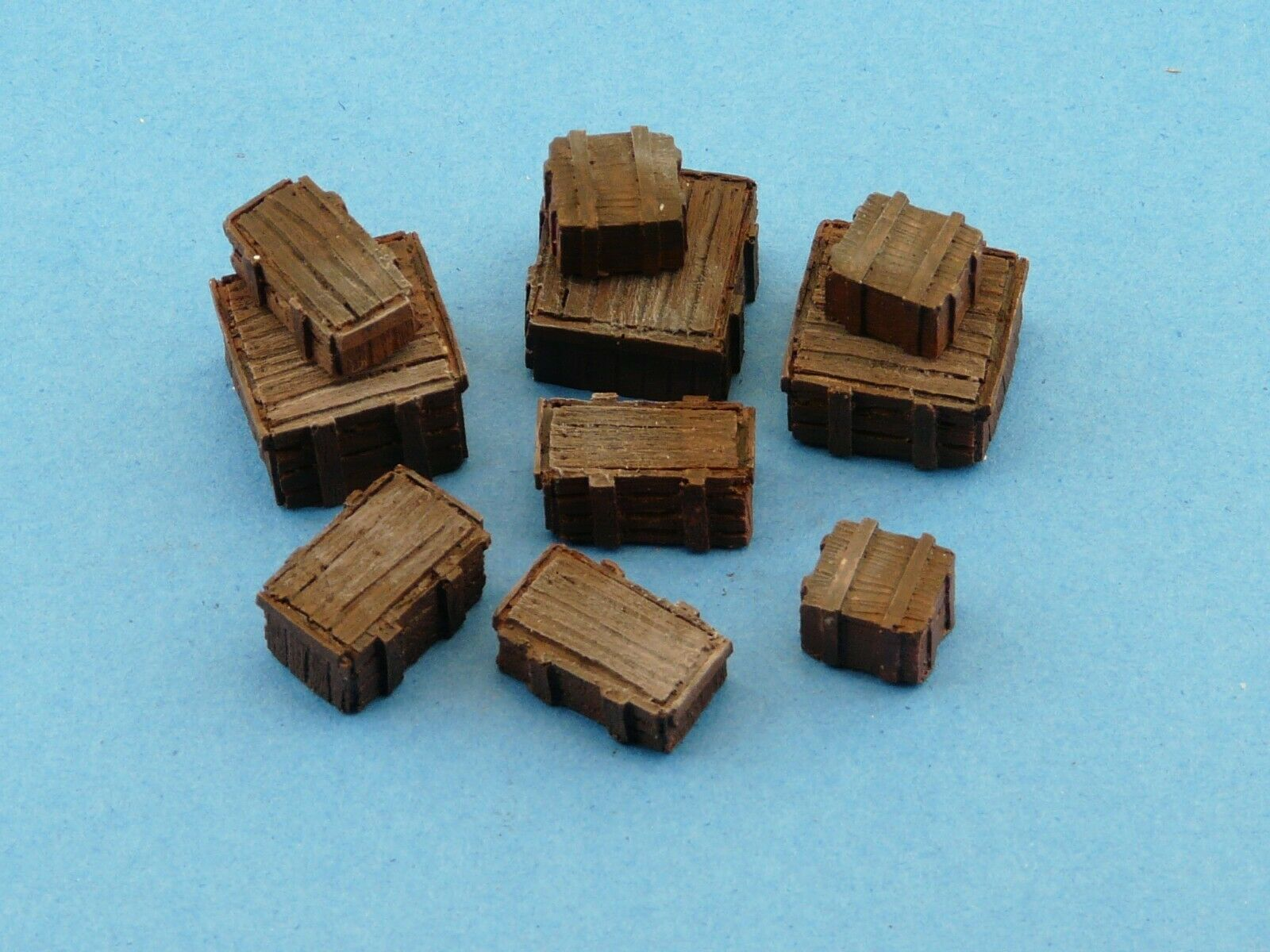 28mm  Crates Set -  Wargames Scenery  - Warhammer Wooden Boxes - 10 Pieces - - redoguk