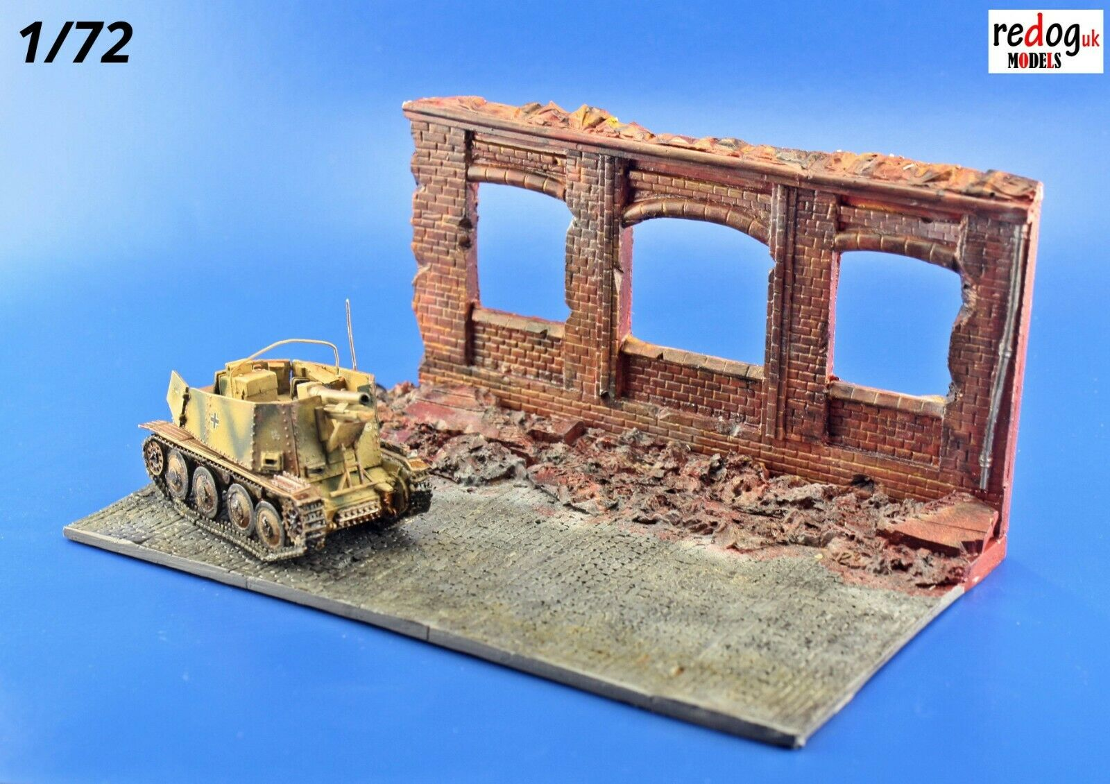 Redog 1/72 Ruined Factory Military Scale Model Display Base Diorama R6