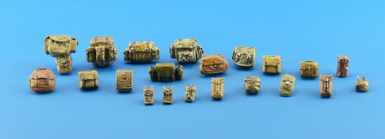 1/35 Military Bags Scale Modelling Resin Stowage Kit Diorama Accessories Kit 11 - redoguk