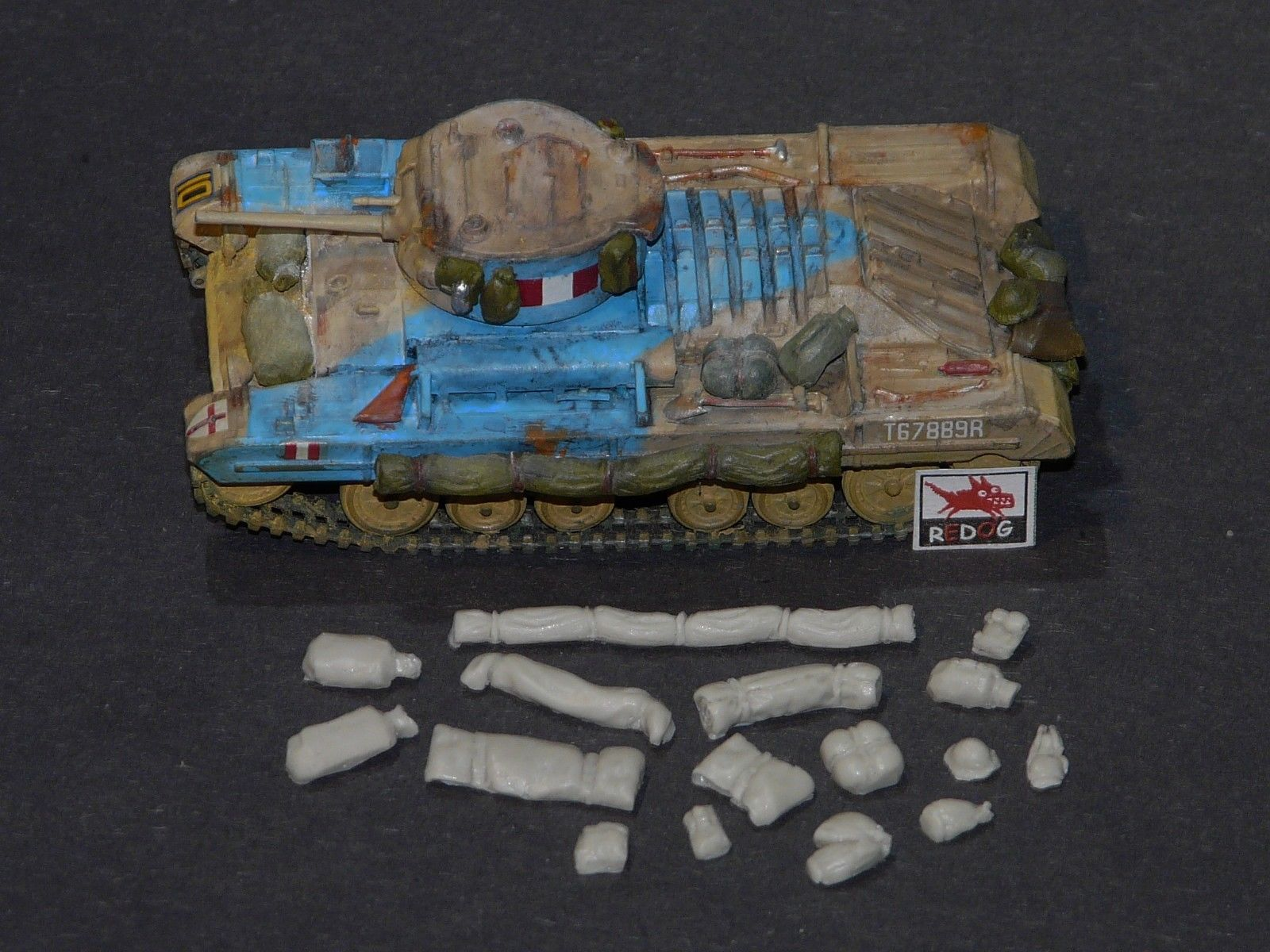1:72 Valentine Mk II Tank Military Scale Model Stowage Kit Diorama Accessories - redoguk