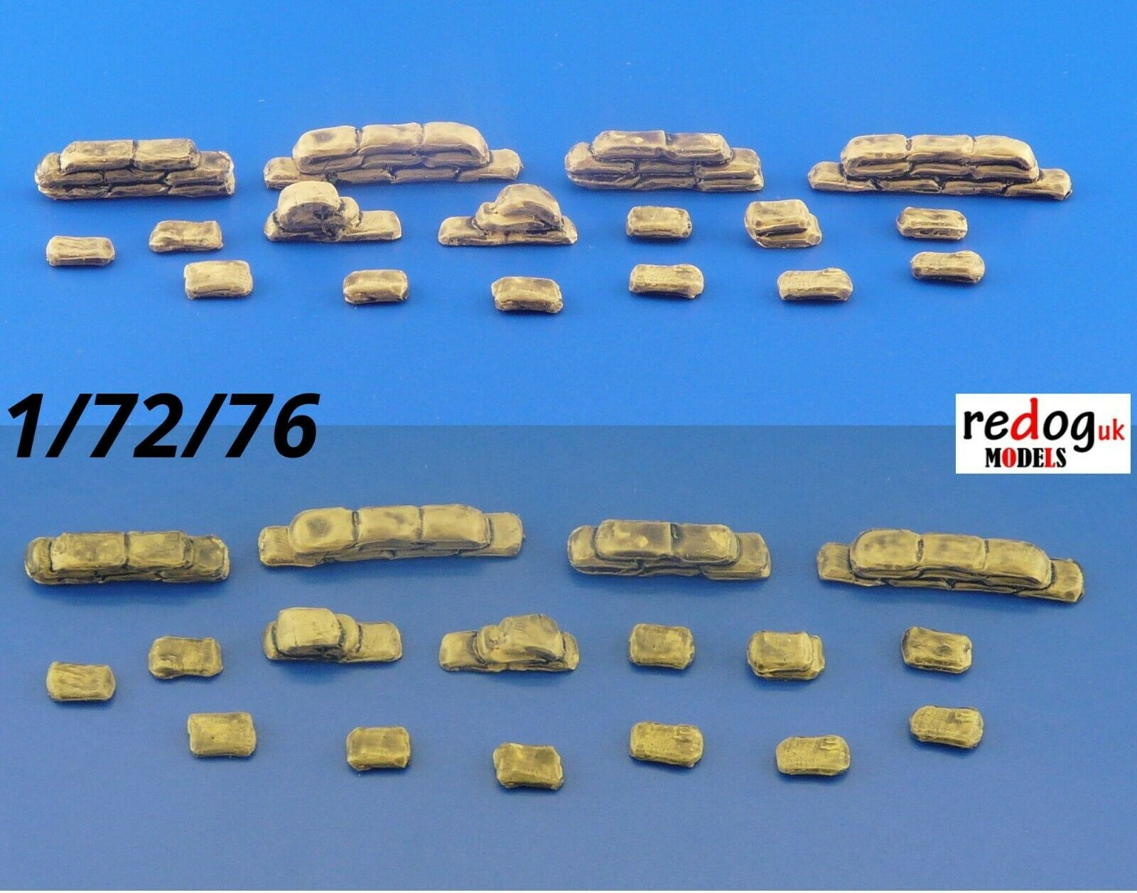 1/72 Sand Bags for Trenches Set Military Scale Modelling Stowage Diorama Accessorises - redoguk