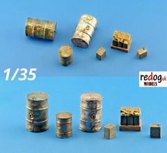 1/35 Oil and Fuel Set Military Scale Resin Modelling Stowage Accessories Kit 2 - redoguk