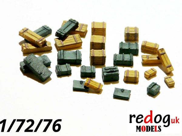 1/72/76 Crates and Boxes - Kit 28 Pieces - Military Scale Modelling And Diorama B2 - redoguk