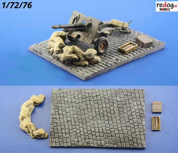 Redog 1/72 - Military Gun Emplacement - Scale Model Display Base kit/d9