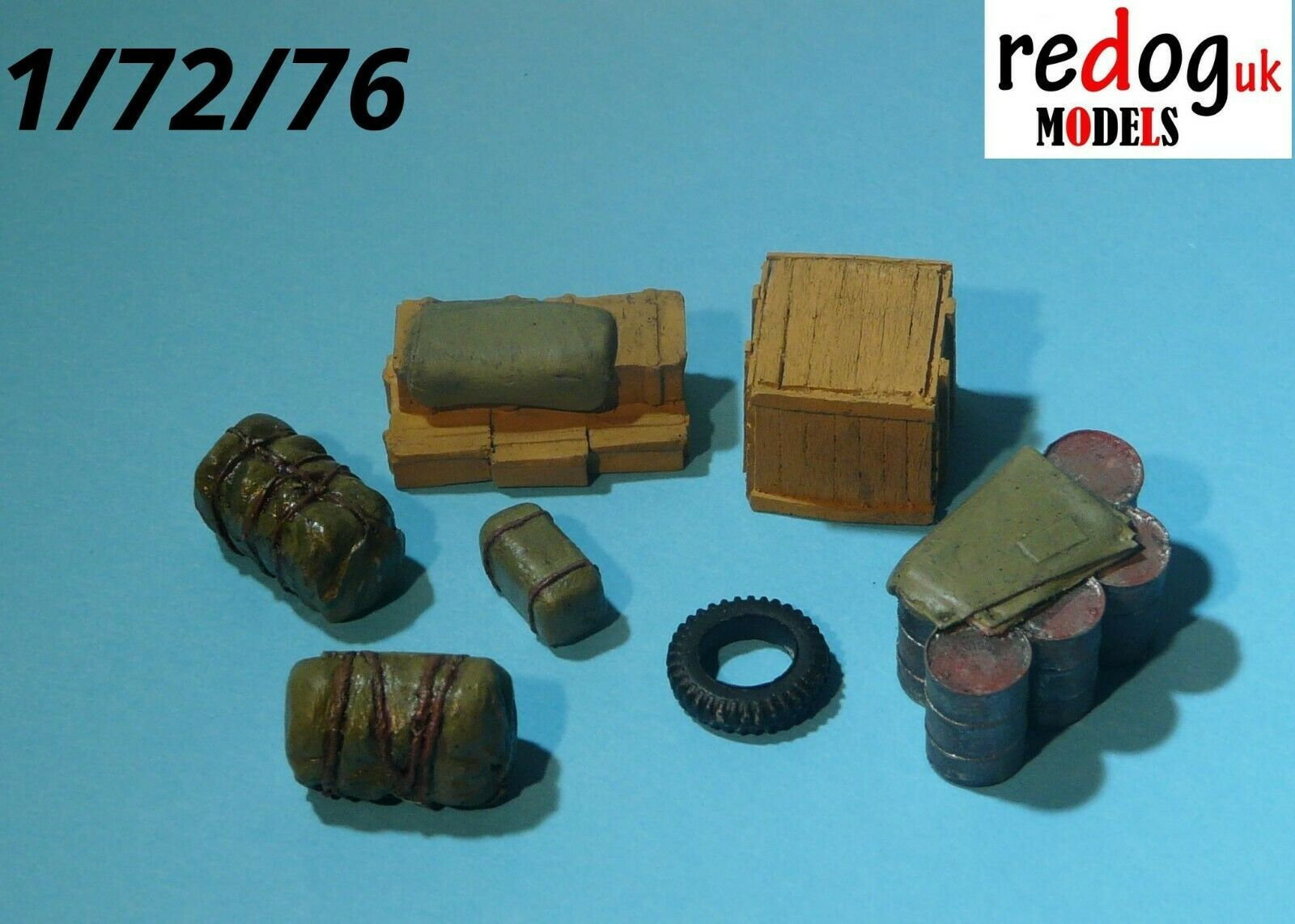 1/72 Vehicle Cargo Kit Military Scale Modelling Stowage Diorama Accessorises 4 - redoguk