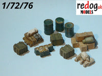 Redog 1/72/76 Vehicle Cargo Kit Military Scale Modelling Stowage Diorama Accessorises 5 - redoguk