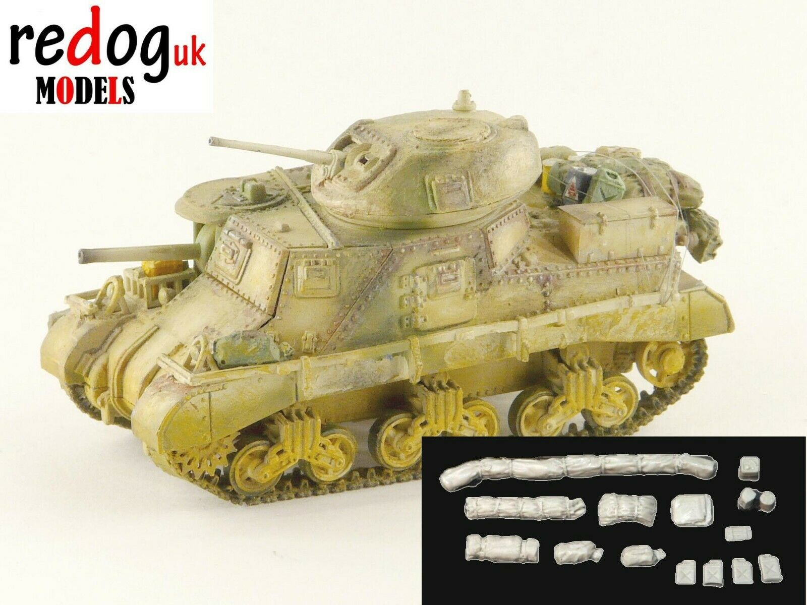 1:72 M3 Lee Tank Military Scale Model Stowage Kit Accessories - redoguk