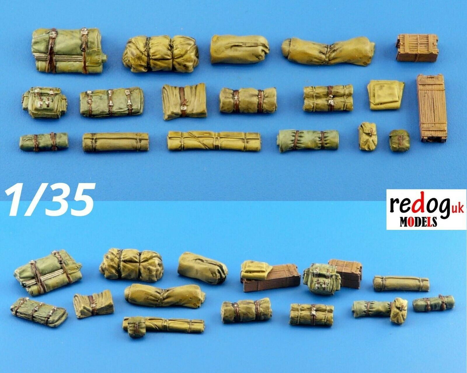1/35 Military Scale Modelling Resin Stowage Kit Diorama Accessories Kit 2 - redoguk
