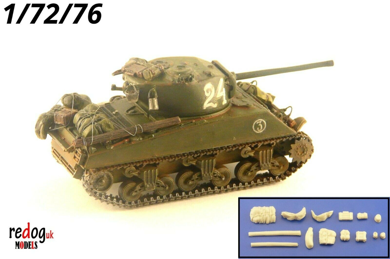 1:72 M4 Sherman in Russian Service Tank Military Scale Model Stowage Kit Accessories S8 - redoguk
