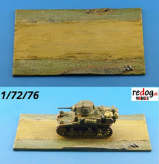 1/72 Diorama Display Base for Military Scale Model Tank & Vehicles D3 - redoguk