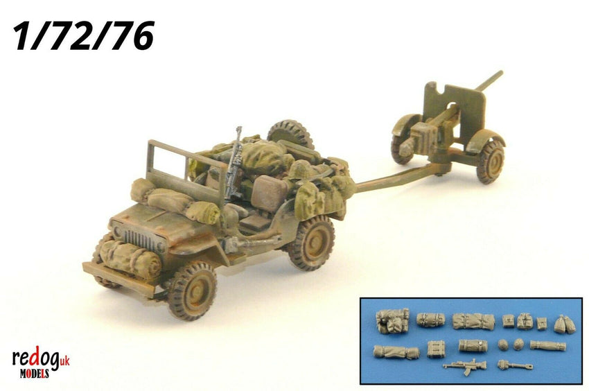 Redog 1/72 Willys Jeep - Military Scale Model Stowage Kit - redoguk