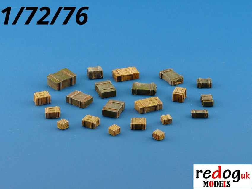 Redog 1:72:76 - Military Boxes Set Military Scale Modelling Stowage Diorama Accessorises B1 - redoguk