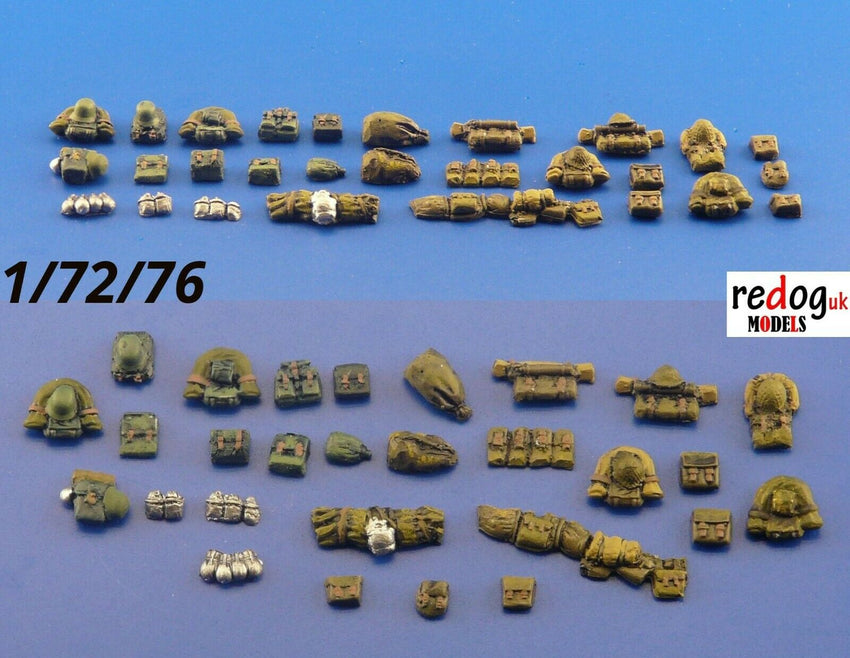 1:72 German Backpacks Scale Modelling Dioramas Accessories Detailing Kit - redoguk