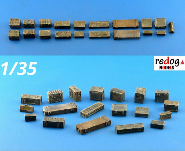 1/35 Ammunition Boxes & Crates Mix Military Scale Model Stowage Kit 6 - redoguk