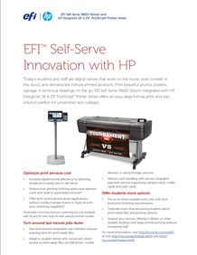 EFI M600 Self Serve Print Station in Higher Education Applications