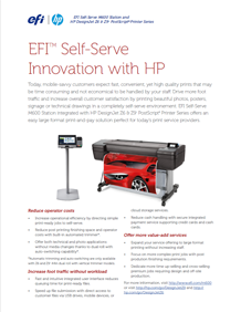 EFI M600 Self Serve Print Station in a Retail Environment