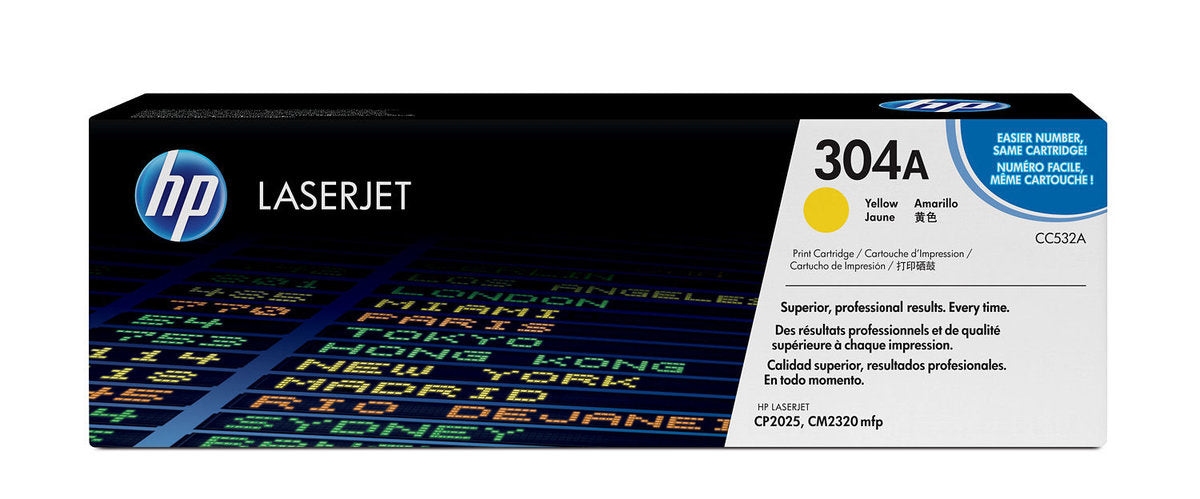 HP 304A Yellow Original LaserJet Toner Cartridge | CC532A