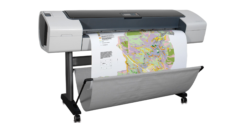 HP DesignJet T1100 Printer Right