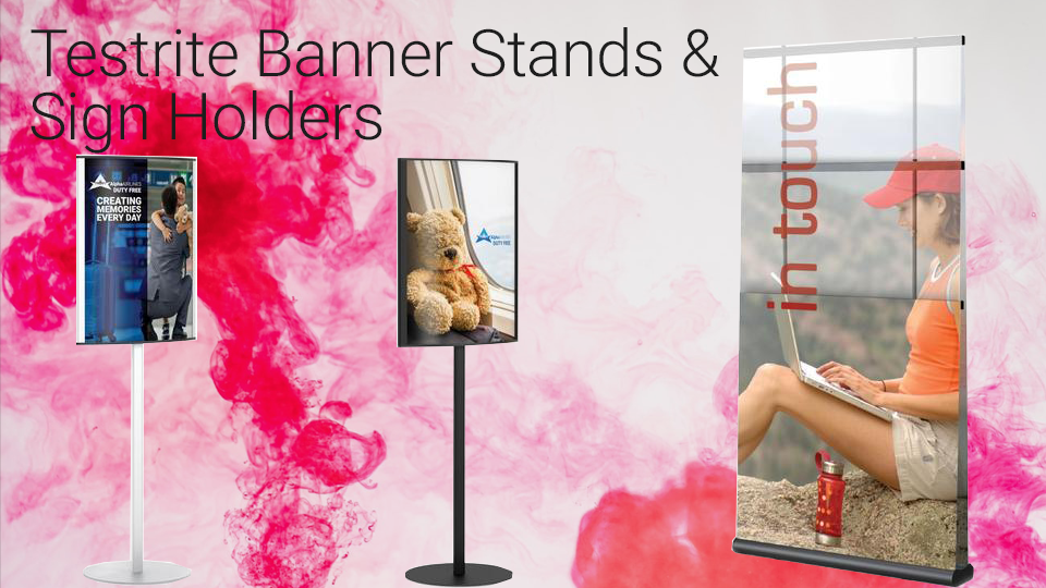 Testrite Banner Stands and Sign Holders