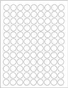 White Circle Labels 3/4 inch