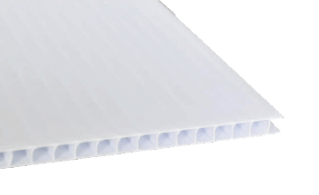 24 x 72 White Coroplast (4mm Fluted)