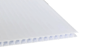 4 ft x 8 ft White Coroplast (4mm Fluted)