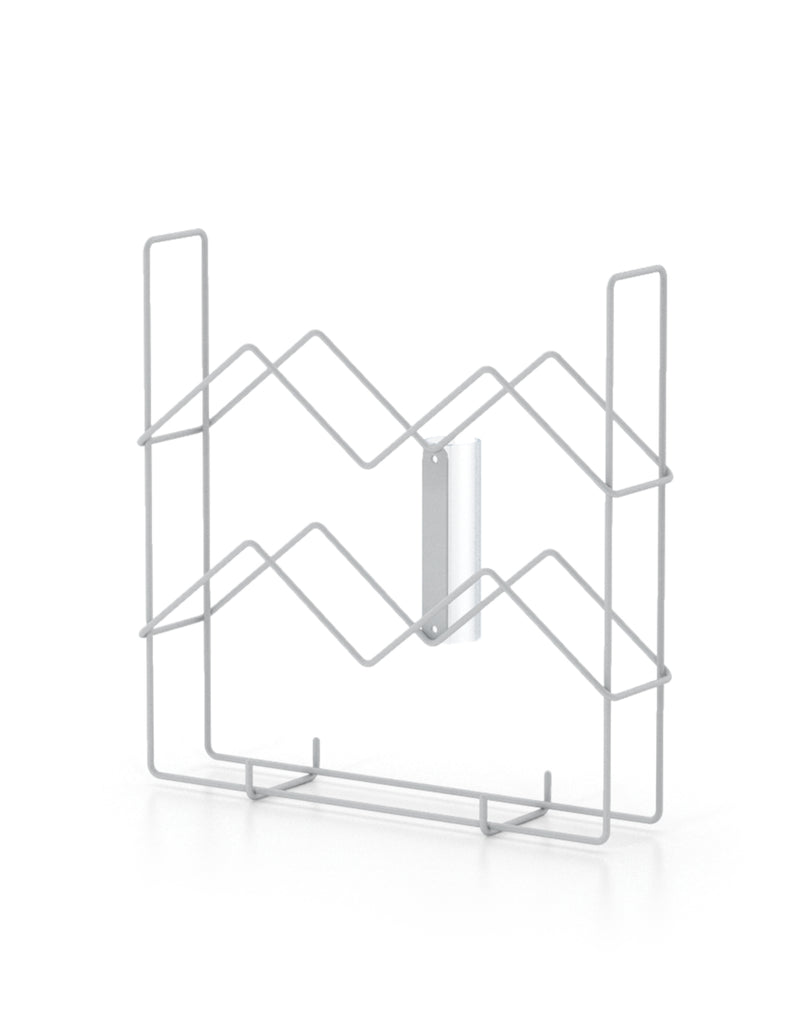 4 Inch x 1-1/2 Inch Wire Snap on Pamphlet Holder/ 1 Inch Diameter