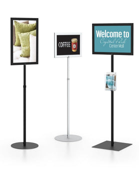 Perfex Pedestal SignFrames | Healtchare, Government, and Retail Printer Bundle