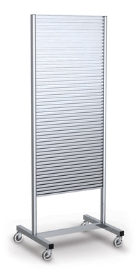 Portable Slatwall Stand, 2-sided, 70 Inch H