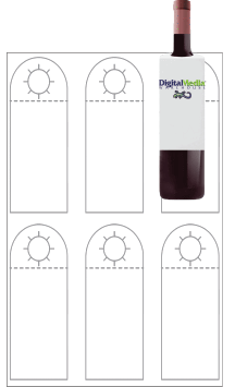 11 x 17 Matte/Matte Bottle Hanger 6-Up