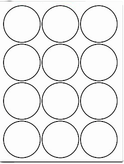 2 1/2 inch White Circle Labels