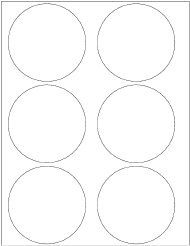 11 x 17 Gloss Circle Cooler Decals (6 up) 5 inch Diameter