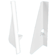 7 inch Single Wing Easel Backs - White