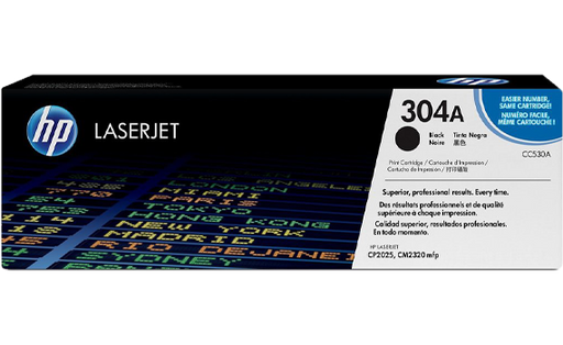 HP 304A Black Original Toner Cartridge | CC530A