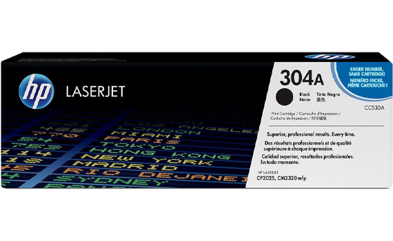HP 304A Black Original LaserJet Toner Cartridge | CC530A