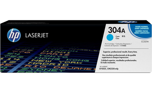 HP 304A Cyan Original Toner Cartridge | CC531A