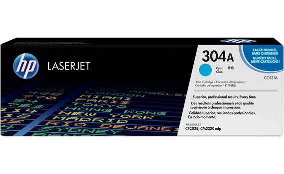 HP 304A Cyan Original LaserJet Toner Cartridge | CC531A