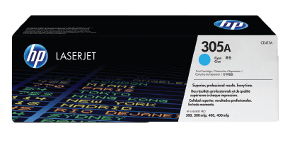 HP 305A Cyan Original Toner Cartridge | CE411A