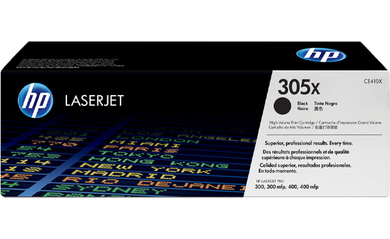 HP 305X High Yield Black Original Toner Cartridge | CE410X