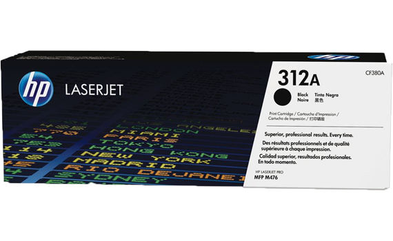 HP 312A Black Original Toner Cartridge | CF380A