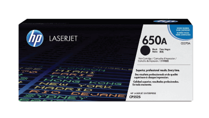 HP 650A Black Original Toner Cartridge | CE270A