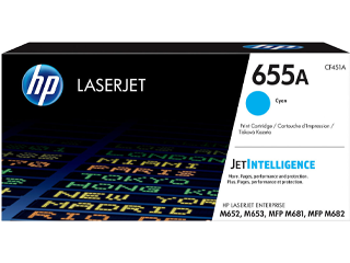 HP 655A Cyan Original Toner Cartridge | CF451A