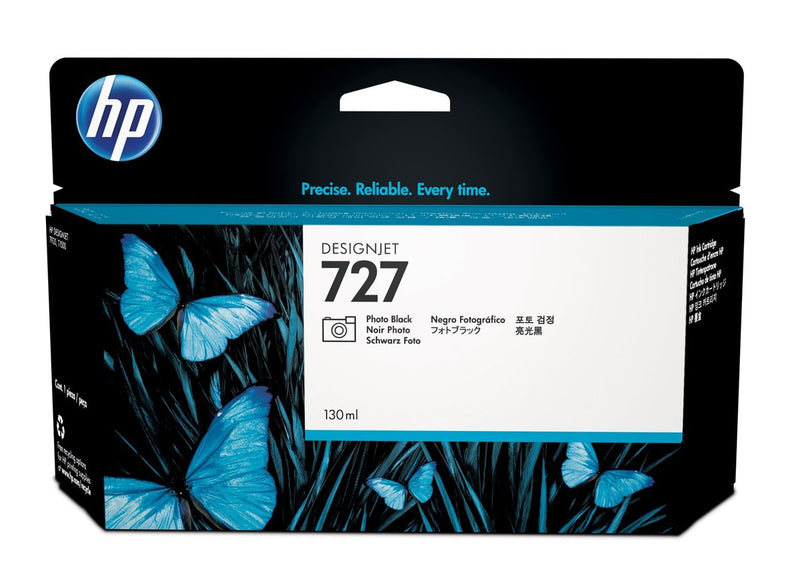 HP 727 130-ml Photo Black DesignJet Ink Cartridge | B3P23A